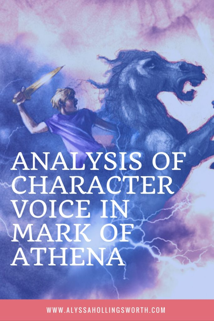 ANALYSIS OF CHARACTER VOICE IN MARK OF ATHENA