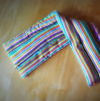 Rice Heating Pad Therapy Bag Microwavable Hot or Cold Striped - $18 on Etsy