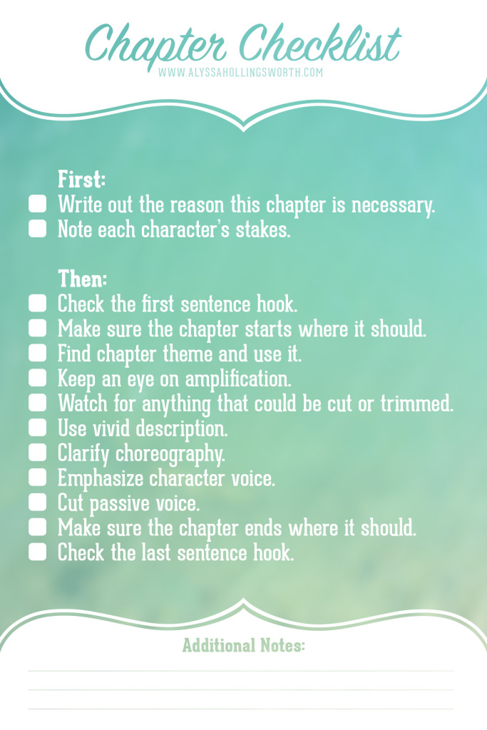 Chapter Revision Checklist