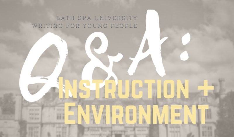 Writing for Young People Q&A: Instruction and Environment
