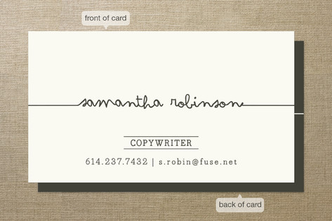 How to Design an Author Business Card