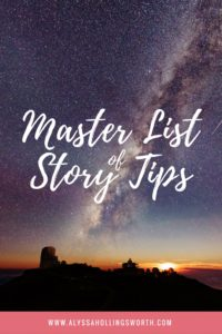 Master List of Story Tips