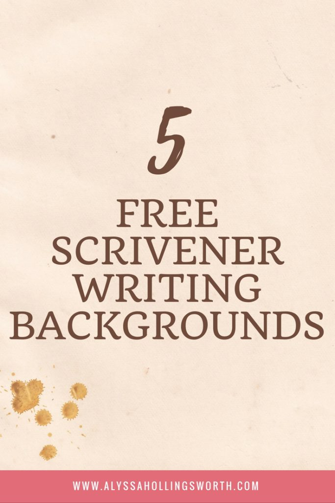 FREE SCRIVENER WRITING BACKGROUNDS