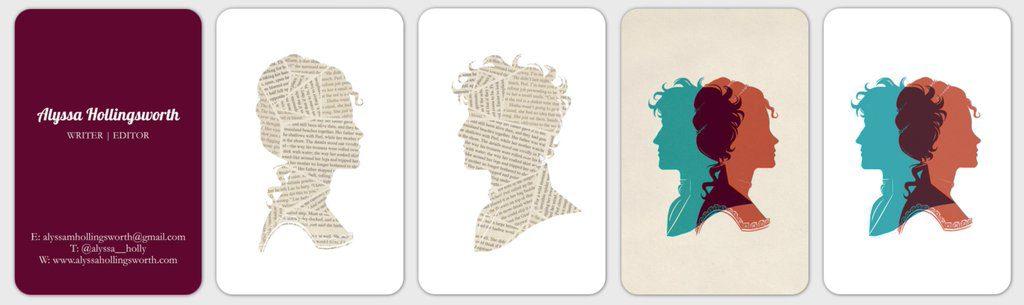 How to design an author business card alyssa hollingsworth how to design an author business card colourmoves