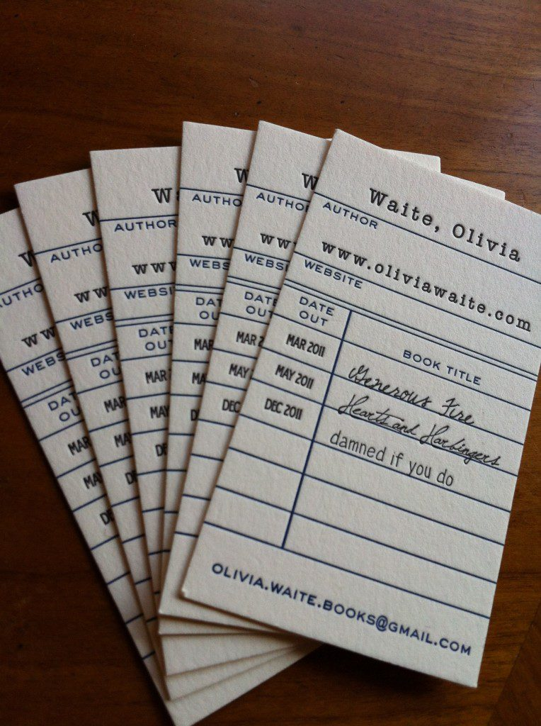 How to Design an Author Business Card - Alyssa Hollingsworth